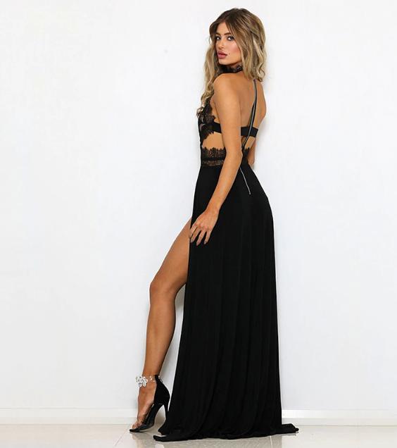dd413a6c774e Večerní šaty Mylah - černé - Pošta Zdarma