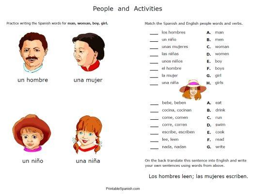 Spanish Worksheets -