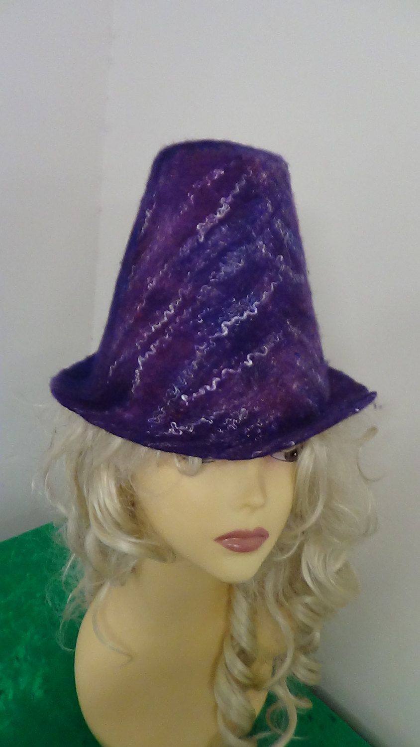 Hat,Felted hat, Fairy, OOAK, Handmade, in USA, , Wearable art, Organic,women hat, art hat, felted art, Renaissance hat, Wonderland by rafaelart on Etsy