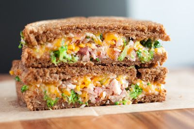broccoli ham grilled cheese