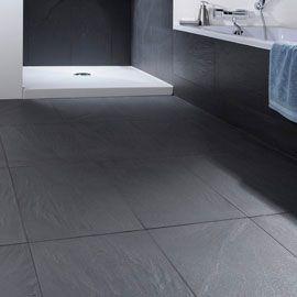Carrelage Sol Et Mur Anthracite 60 X 60 Cm Colours Lava Stone Vendu Au Carton Carrelage Sol Plan Salle De Bain Carrelage