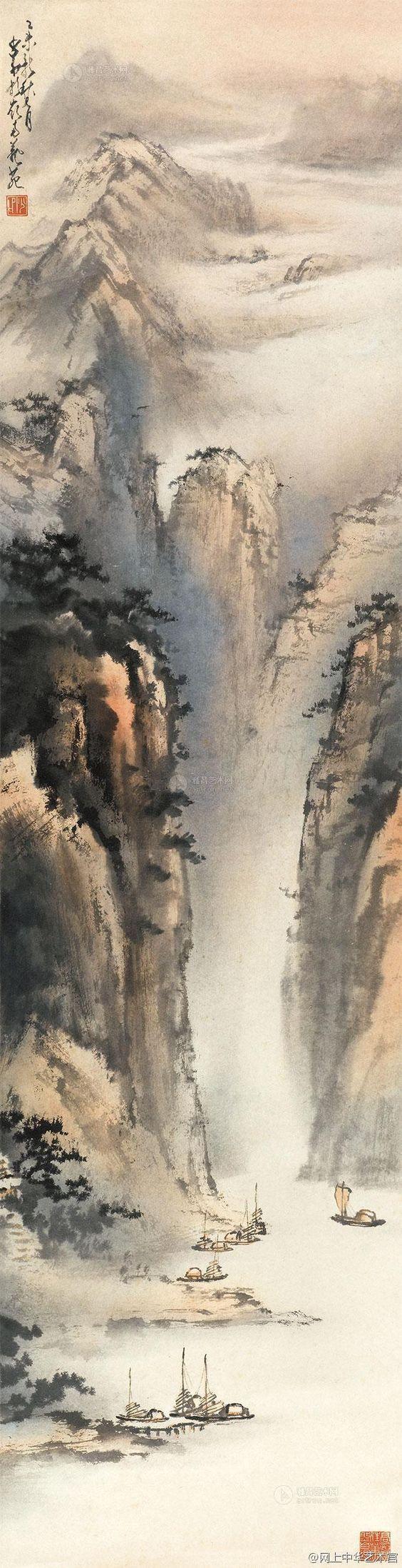 Partie 9 De Mon Blog Au Cœur De La Peinture Des Lettres Https Turandoscope WordPress Com 20 Chinese Landscape Painting Chinese Landscape Japanese Painting