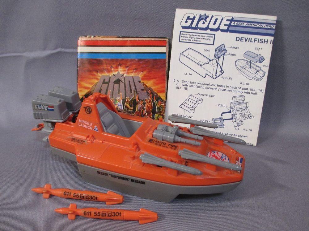 G I JOE PART 1986 DevilFish                Outboard Engine