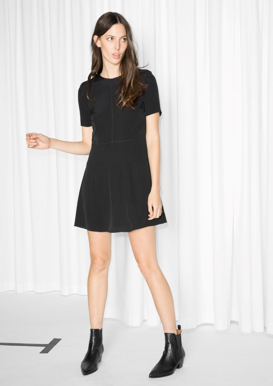 d9d241b420   Other Stories image 2 of Waisted T-shirt Dress in Black
