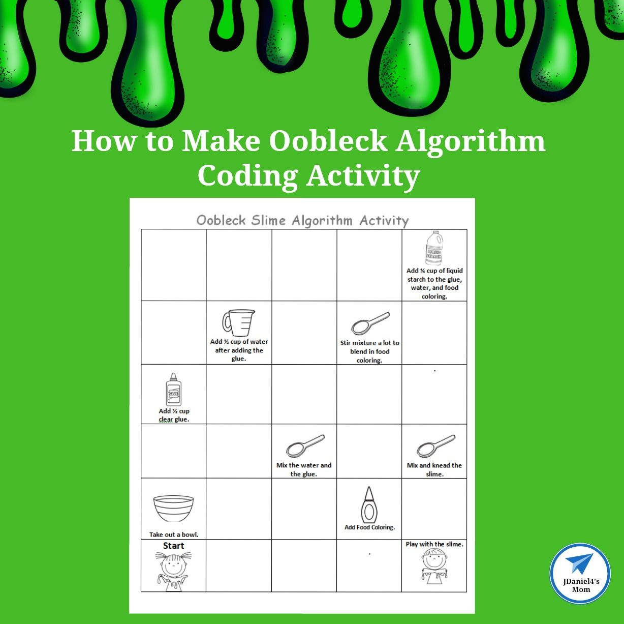 How To Make Oobleck Algorithm Coding Activity And