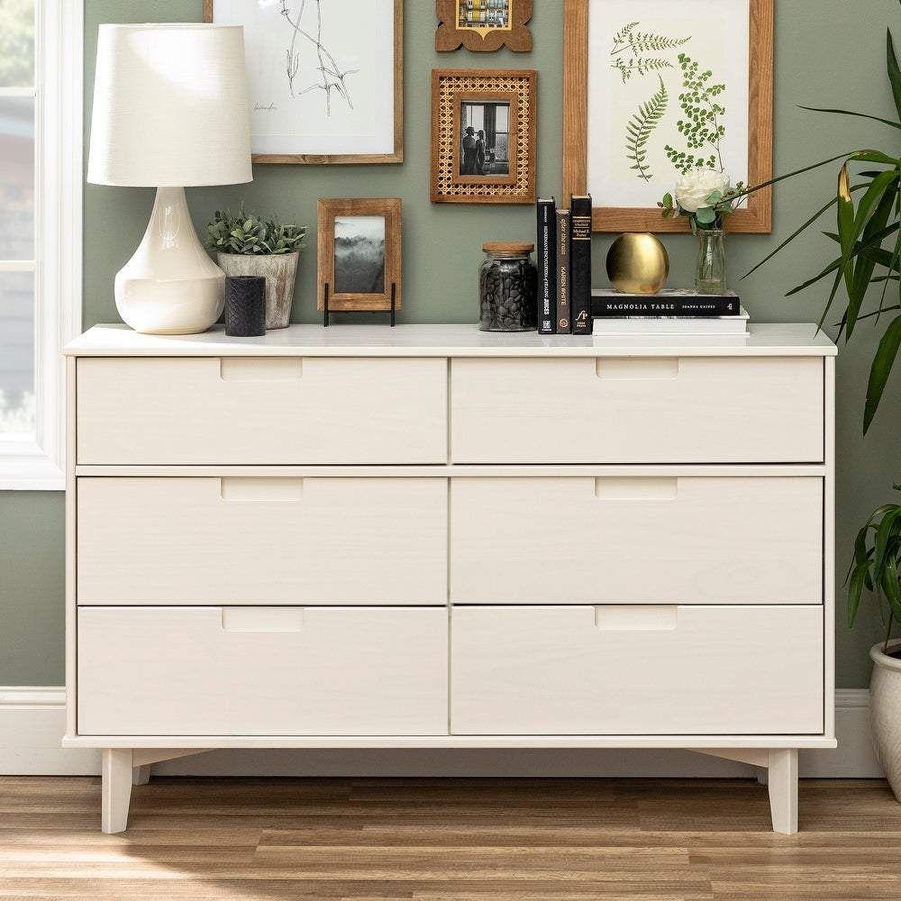 Photo of Carson Carrington Gammelstaden Mid-century 6-drawer Dresser – White