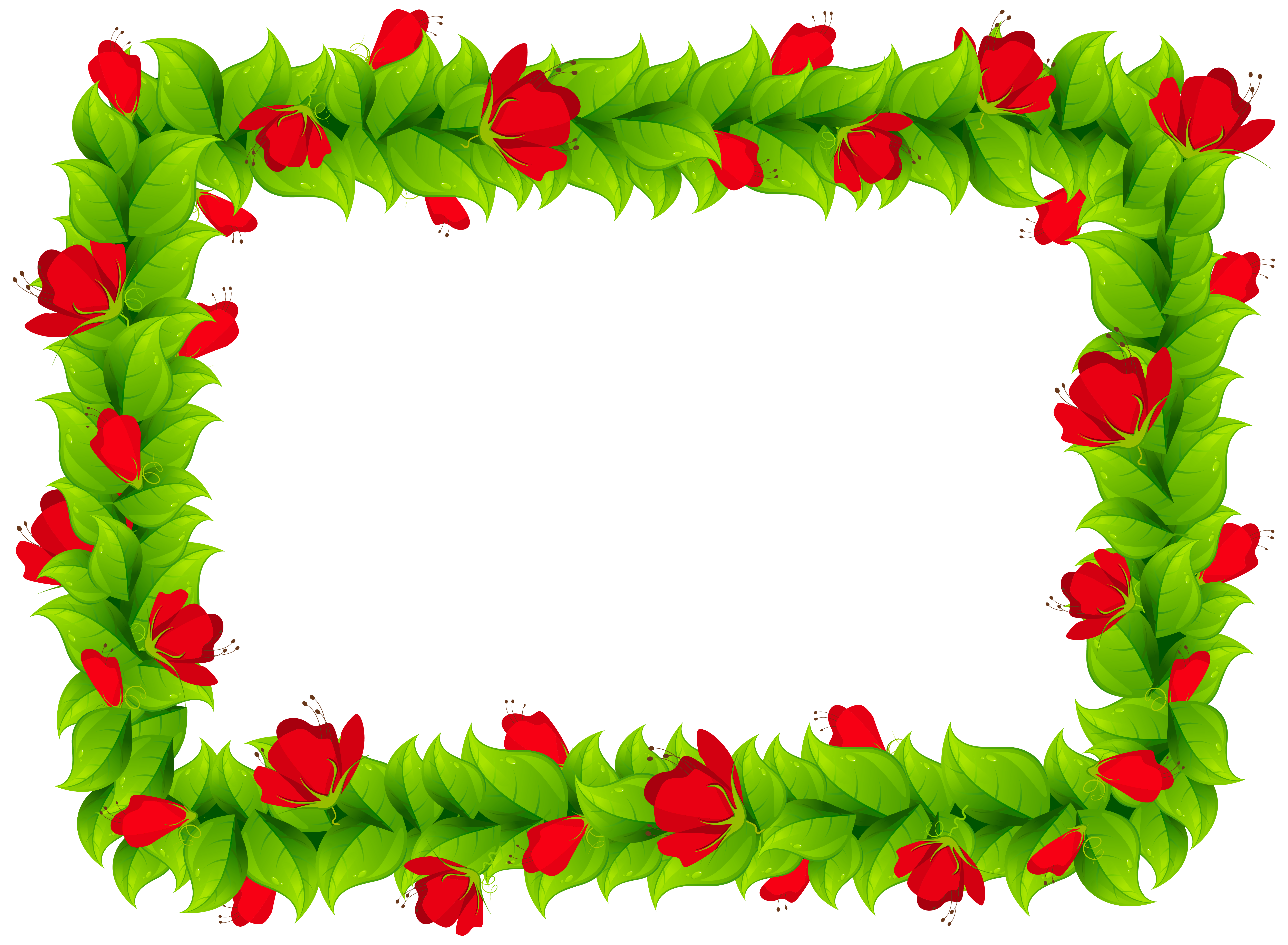 Floral Border Frame Clipart PNG Image (With images
