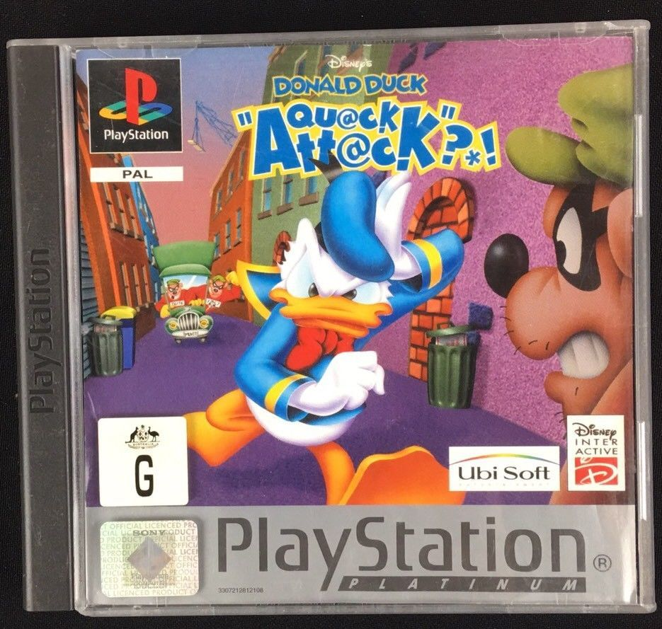 Ps1 Playstation Game Disney 039 S Donald Duck Quack Attack With
