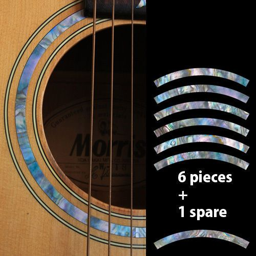 10 pcs Guitar Neck Inlay Stickers Cross Imitation Abalone Fretboard Decals  / Markers For Electric Acoustic