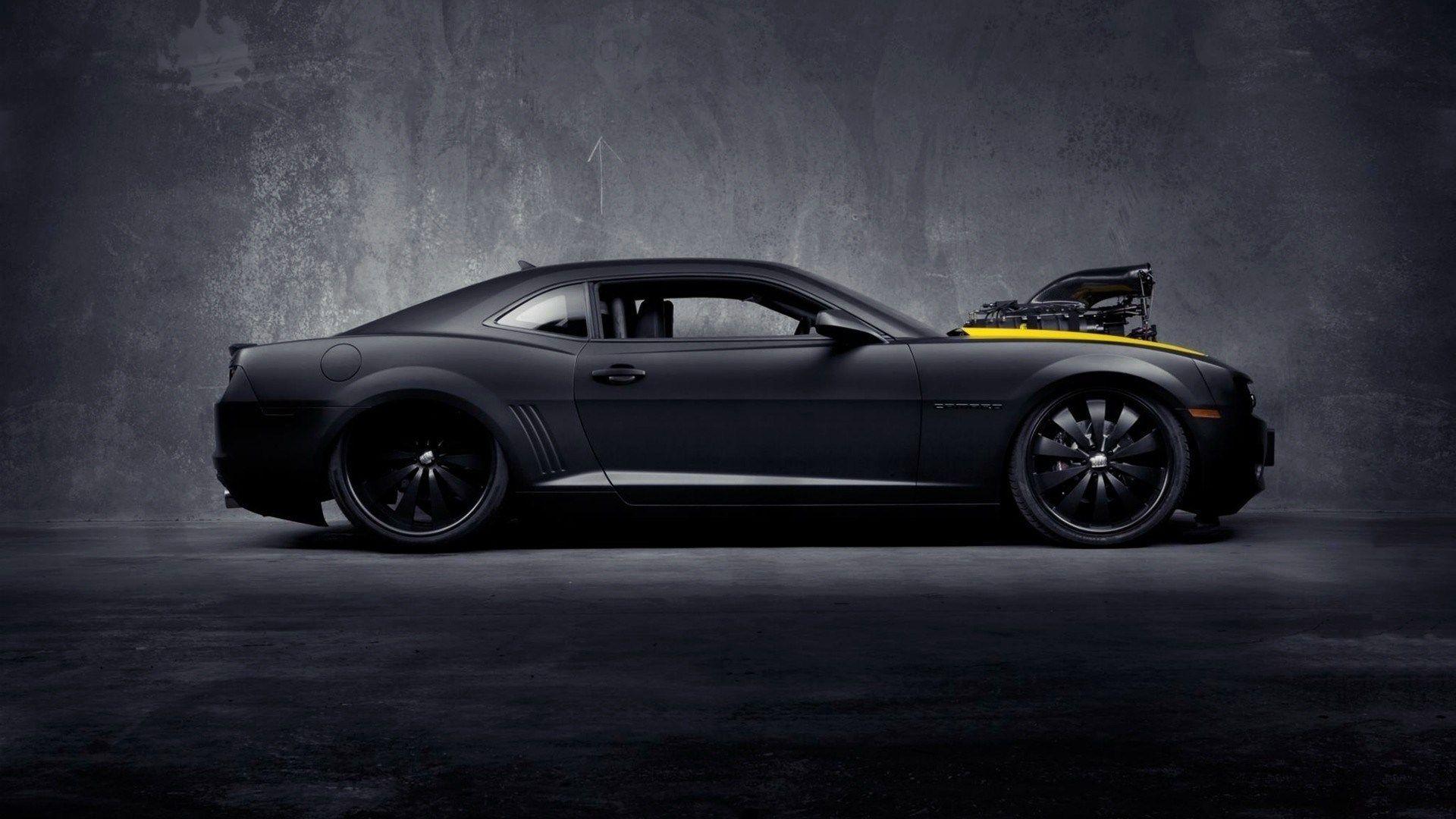 Chevrolet Camaro SS Concept Muscle Car Black Matte Side HD