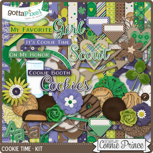 Cookie Time - Kit :: Gotta Pixel Digital Scrapbook Store   $5.99