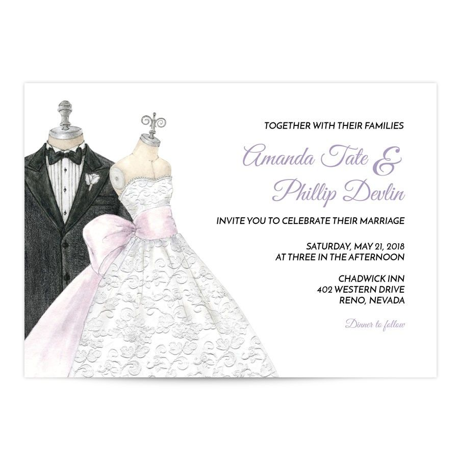 Bride Groom Wedding Invitation | Ink color and Weddings