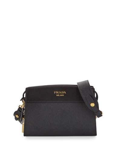 a8ef26d3f98e24 PRADA Esplanade Saffiano Crossbody Bag. #prada #bags #shoulder bags  #leather #crossbody #lining #