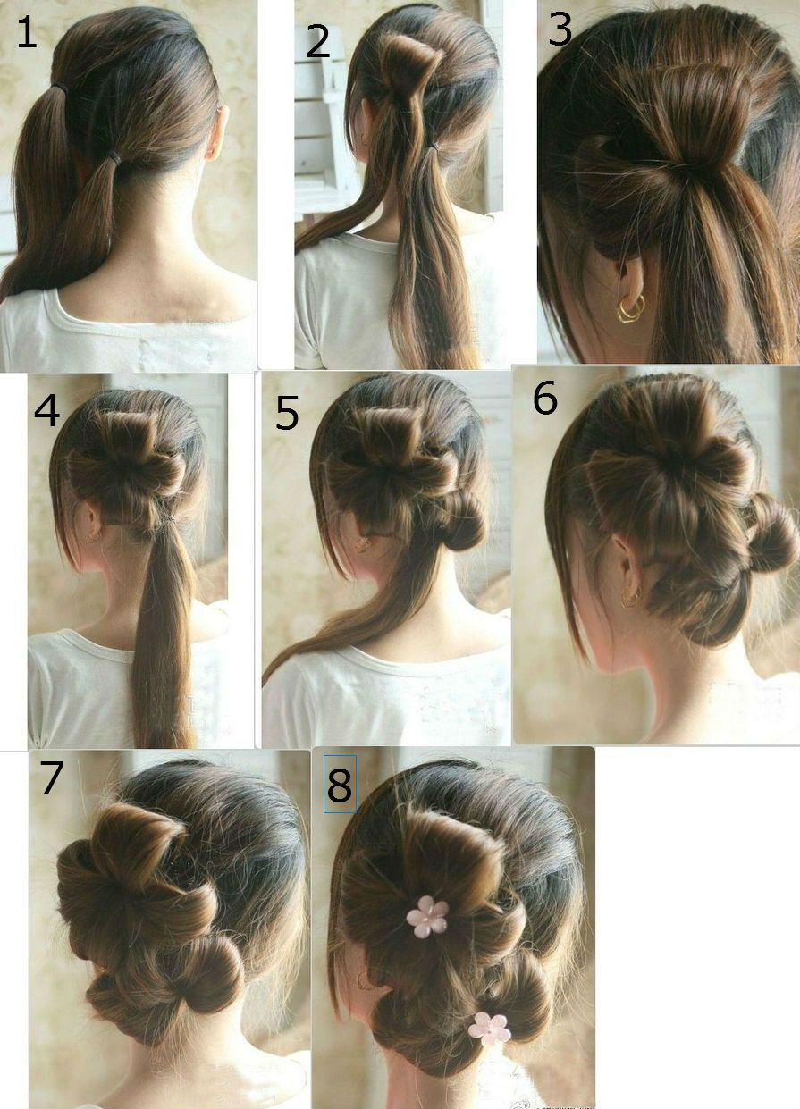 Stupendous Hair Steps Hairstyle For Long Hair And Hairstyles On Pinterest Short Hairstyles Gunalazisus