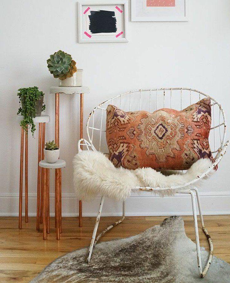 blumenst nder selber bauen metall beine kupfer roehre runde platten beton selber giessen formen. Black Bedroom Furniture Sets. Home Design Ideas