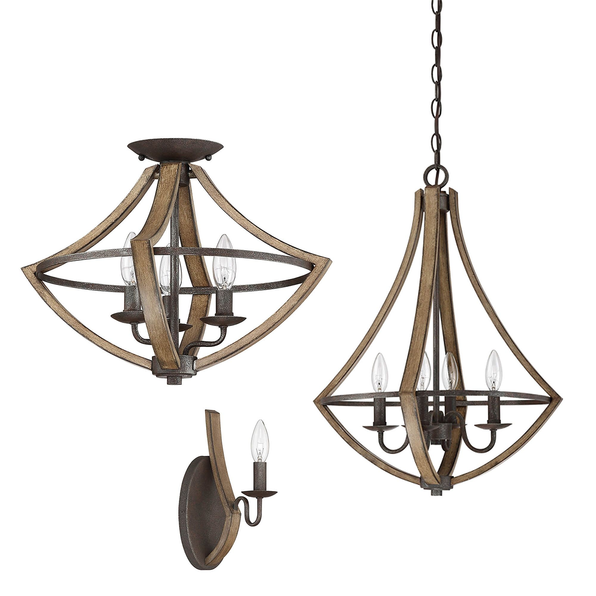 Quoizel® Shire Lighting Collection in Rustic Black Cabin