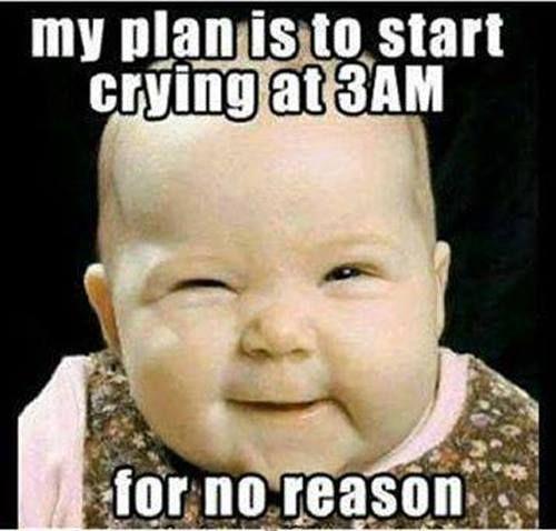 e824b4ff673819b71bc2157ba375f73d my plan baby, crying, funny, night funny pinterest baby