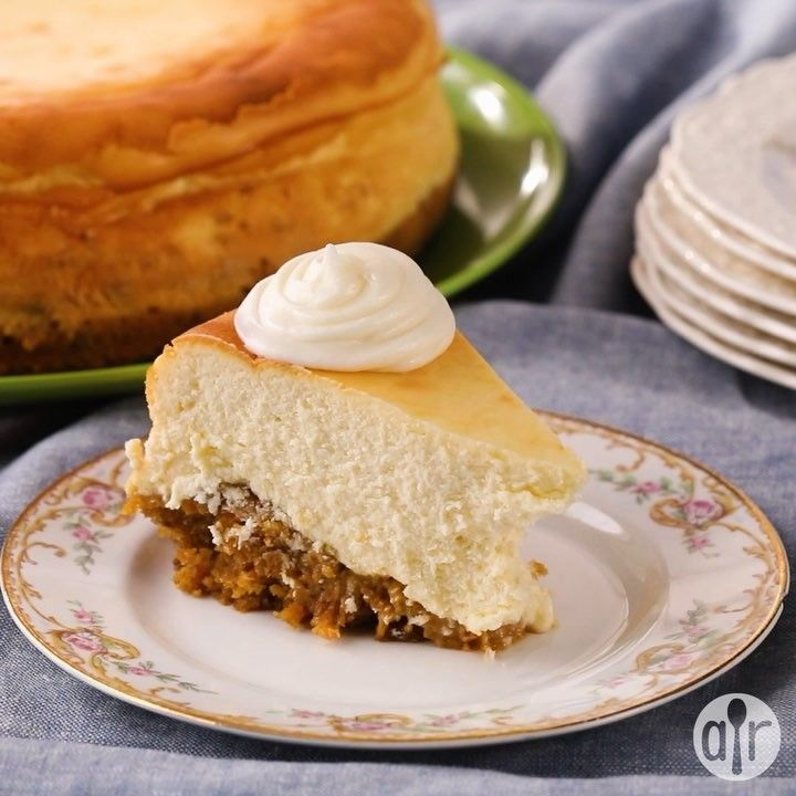 Allrecipes on instagram love carrot cake and cheesecake