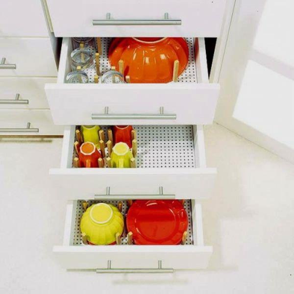 ▷ 57 praktische Ideen für die Organization der Küchenschubladen ...