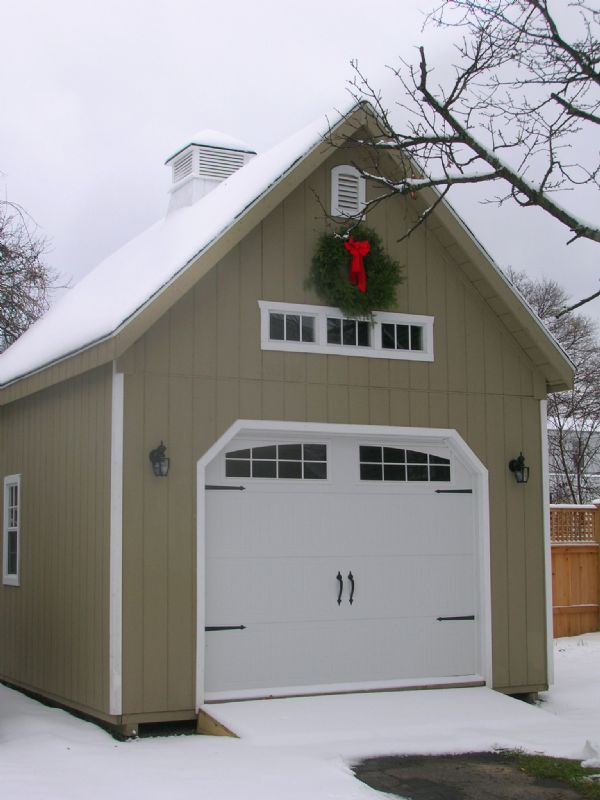 Customize Your Own Car Online >> 14x24 Two Story A-Frame Garage - Wood-Tex Products in 2019 | Two story garage, Prefab garages ...