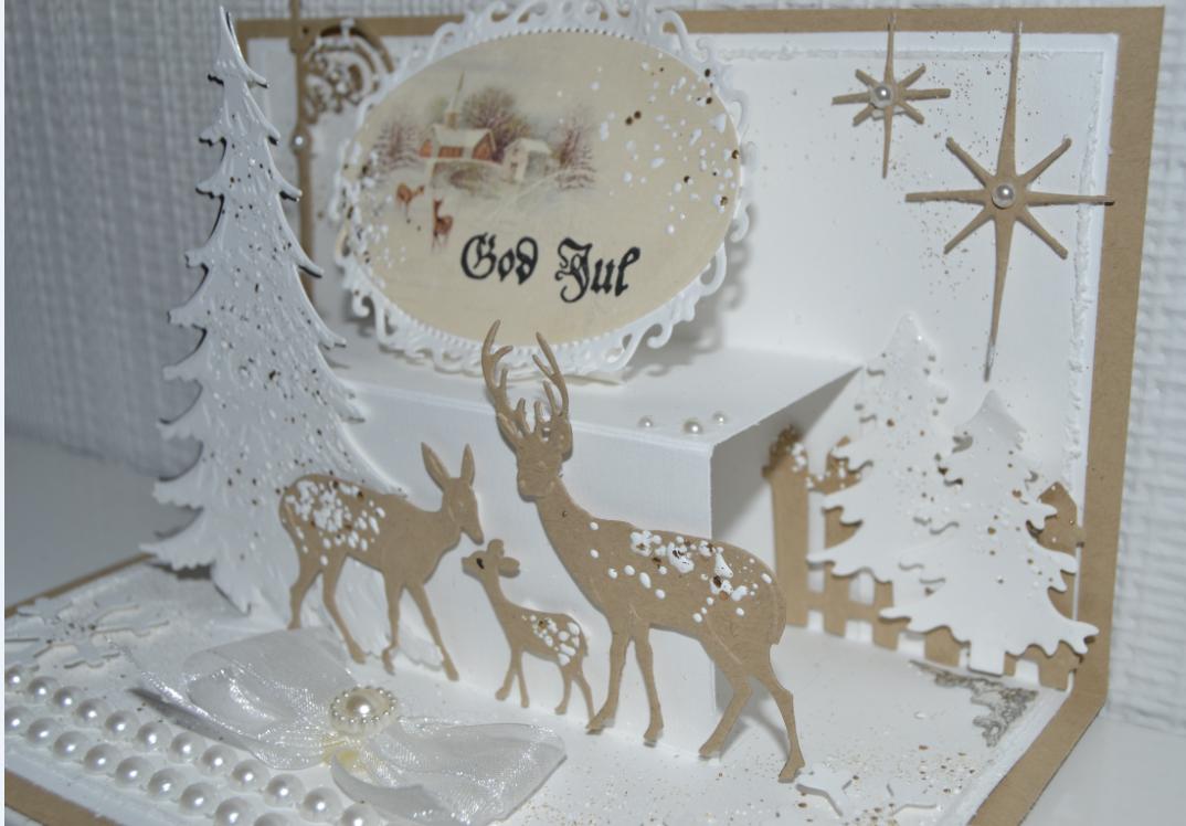 Velkommen inn: Da har jeg prøvd meg på et pop up julekort:)