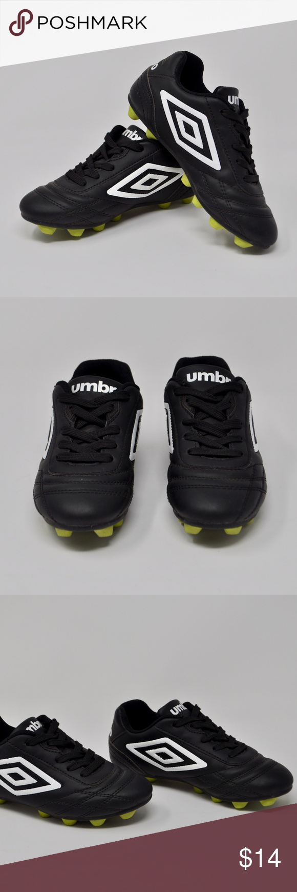 1452cd6bd1e Umbro Boys Black   White Soccer Cleats Youth 12 Umbro Boys Black   White  Soccer Cleats Size Youth 12 Condition  Pre-Owned