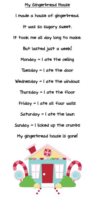 More Free Gingerbread Stuff Christmas Kindergarten Christmas Poems Kids Poems