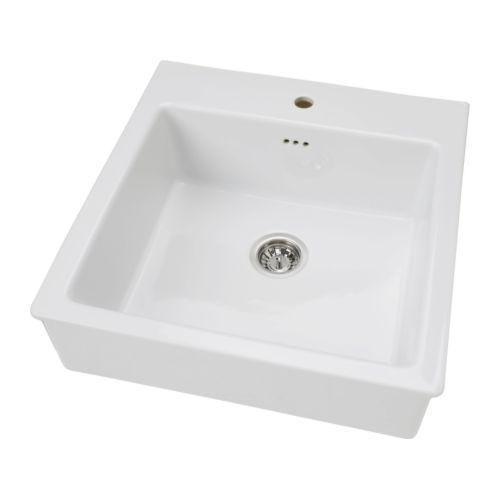DOMSJÖ Sink bowl, white Basement Kitchen Pinterest - küche online planen ikea