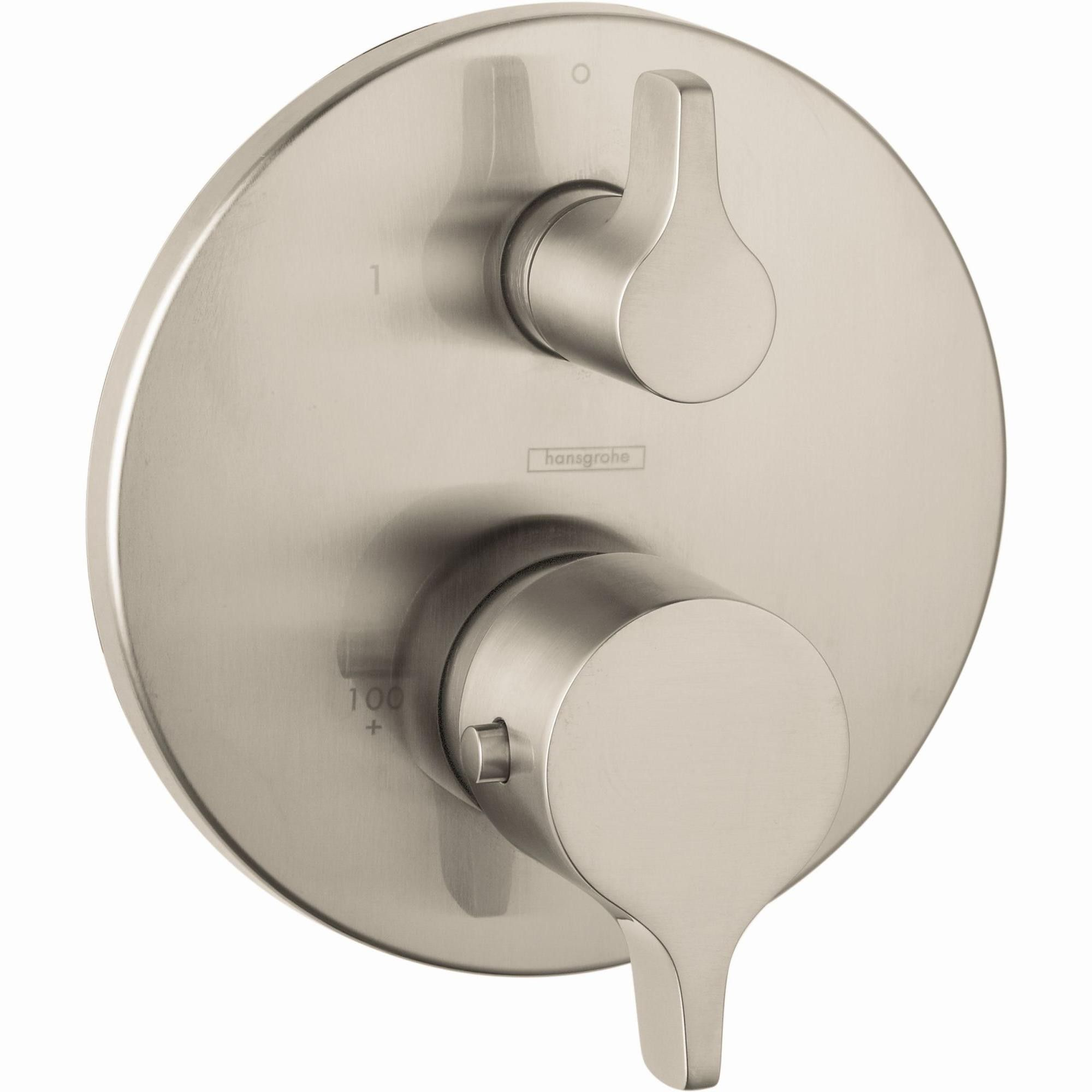 Hansgrohe 04352 S E Thermostatic Valve Trim With Integrated Volume