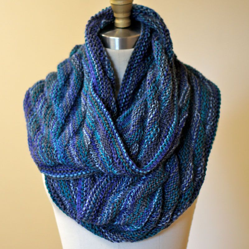 Reggae Ombre Arrowhead Moebius Cowl By Karin Skacel - Free Knitted ...