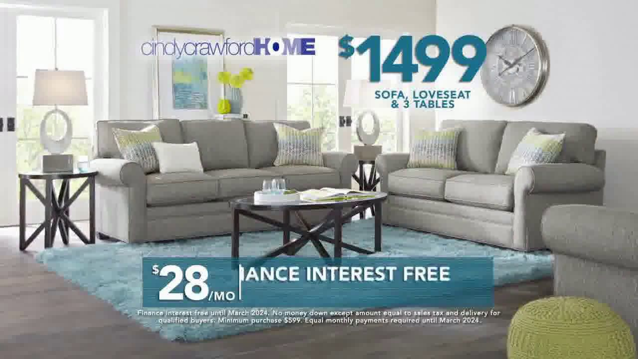 Rooms To Go 2019 Labor Day Cindy Crawford Home Furniture Set Tv Commercial 2019 Furniture Home Furniture Rooms To Go
