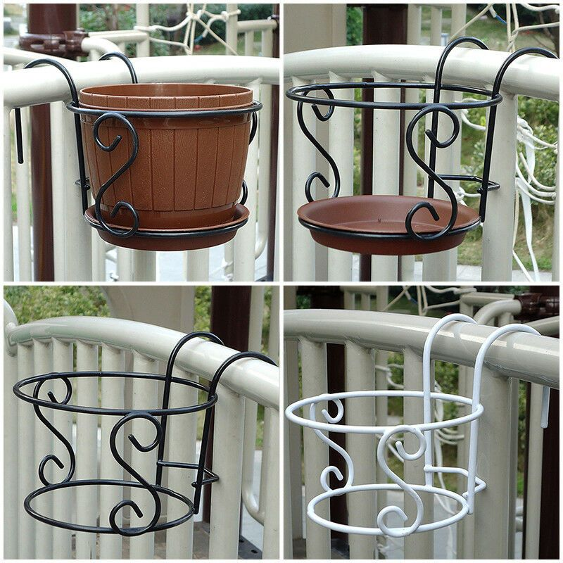 Details About Balcony Plant Hanging Racks Creative Round Flower