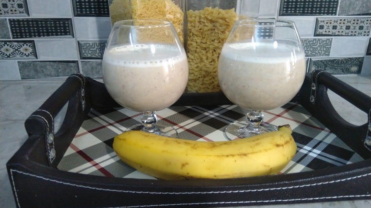 سموثي الموز والدقلة والشوفان صحي ولذيذ بعض من مشترياتي الشهرية Food Glass Of Milk Milk