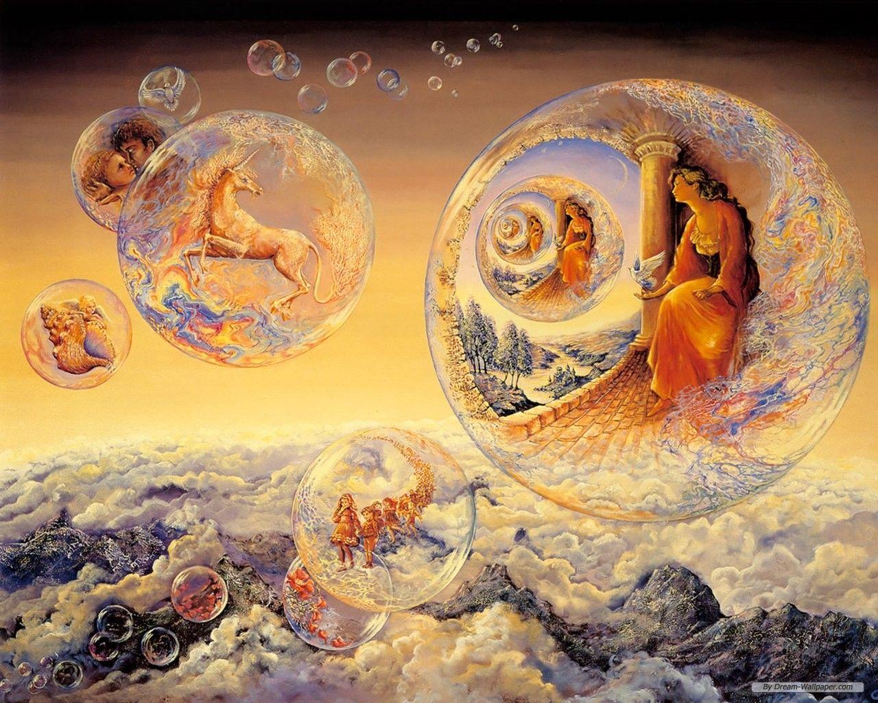 Dream and Fantasy Painting   Free Art wallpaper - Josephine Wall ...