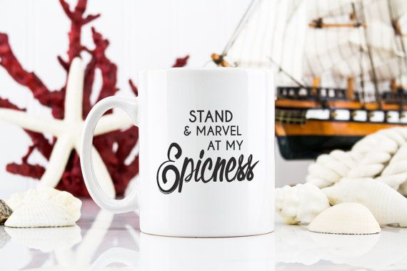 Coffee Mug Tea Cup  Stand & marvel at my epicness  by EpicGiftShop
