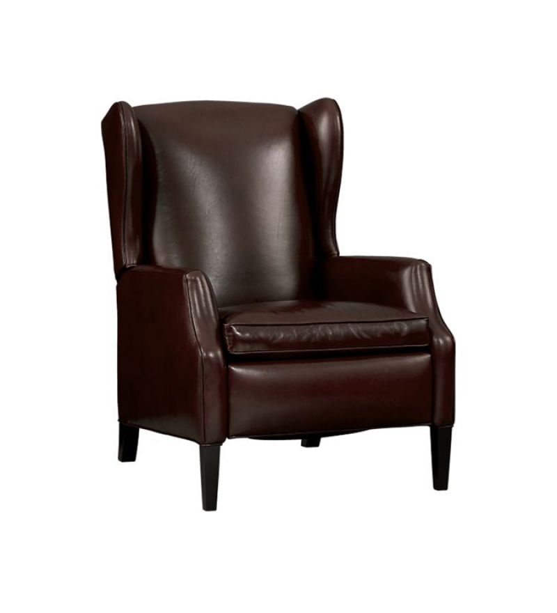 Leather Single Seater Sofa Leather Wing Chair Single Seater