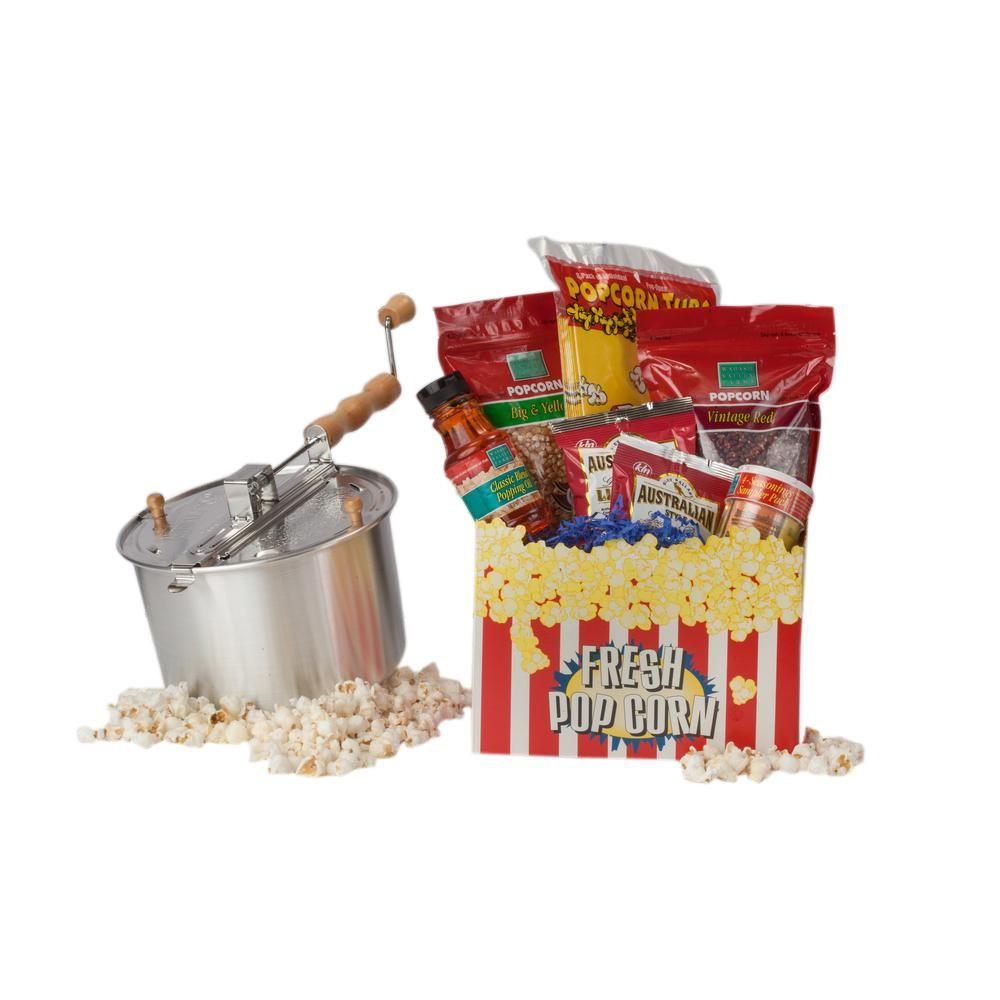 16-Piece Aluminum Popcorn Popper Set