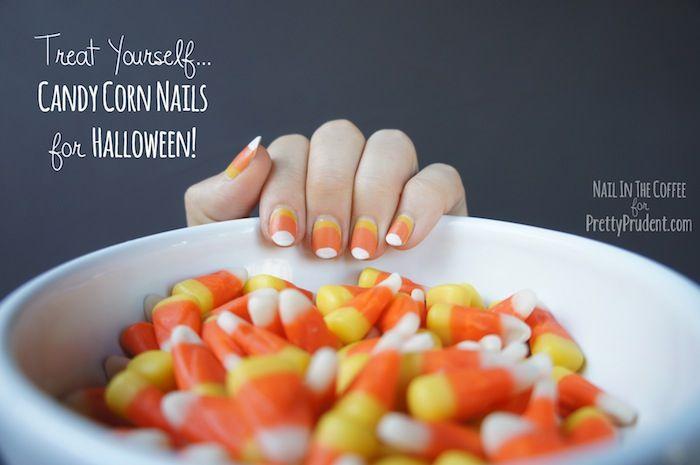Candy Corn Nail Tutorial | Halloween | Pinterest | Candy ...