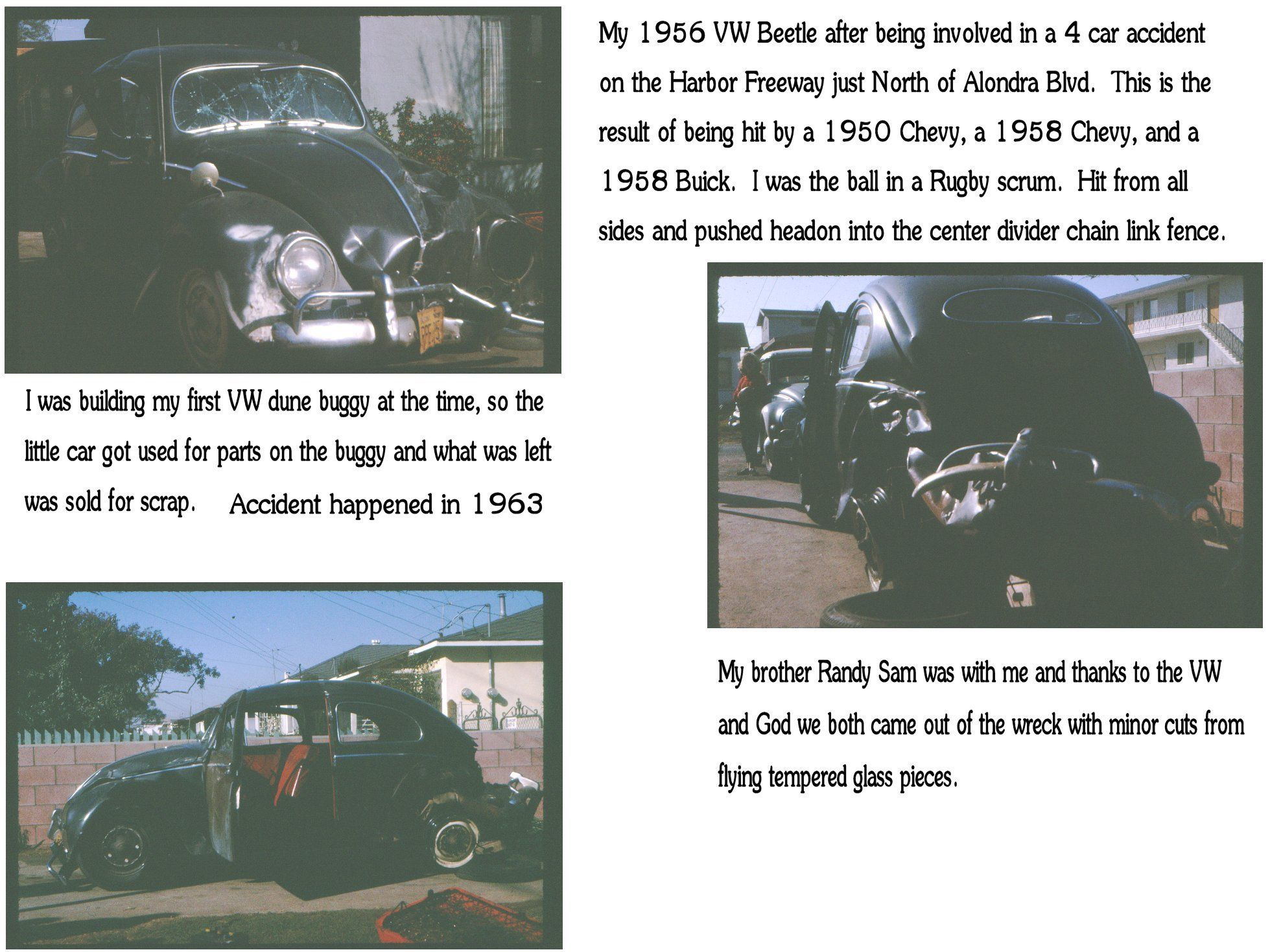 1963 Accident With My 1956 Vw Rugby Scrum Accident Vw Beetles