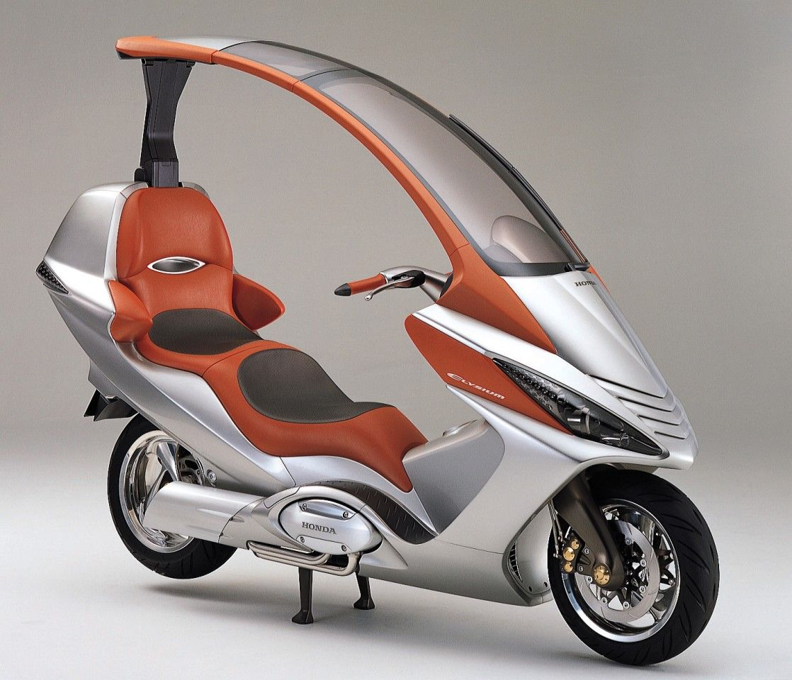 Honda S 750 Scooter Concept With Cvt And Electric Roof Scooter Bike Motorcycle Scooter