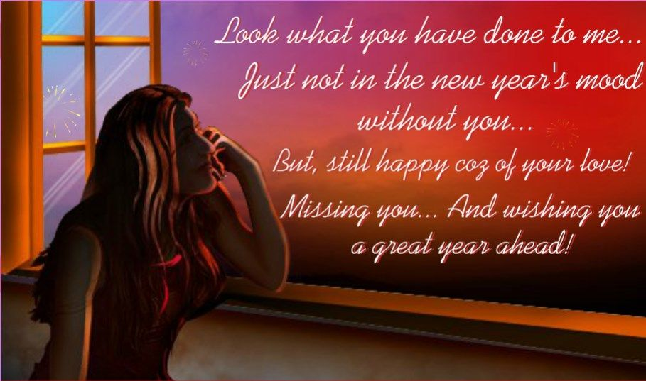 I Miss You New Year Greeting Card For Him Happy New Year Quotes New Year Wishes Happy New Year Wishes