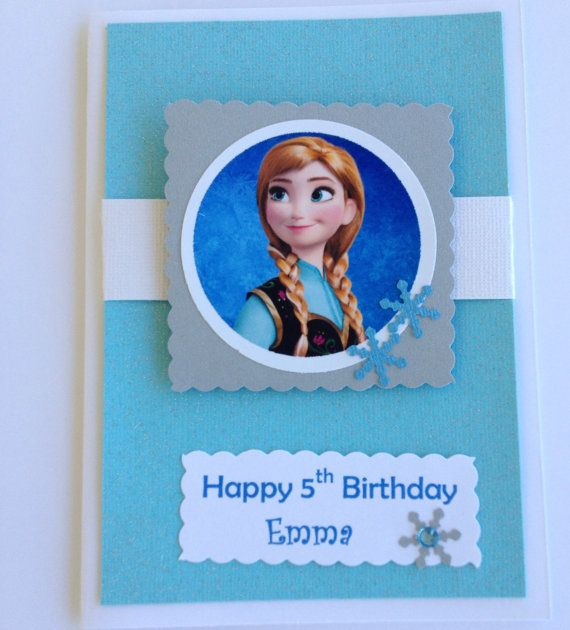 Frozen Birthday Card, Free Personalize, Frozen Christmas Card, Anna ...