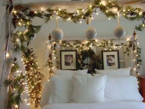 50 bedrooms decorated with Christmas lights Deco ideas for home