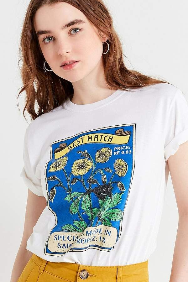 3dae5525e7 Urban Outfitters UO Sunflower Matchbox Tee t shirt color white printed  novelty