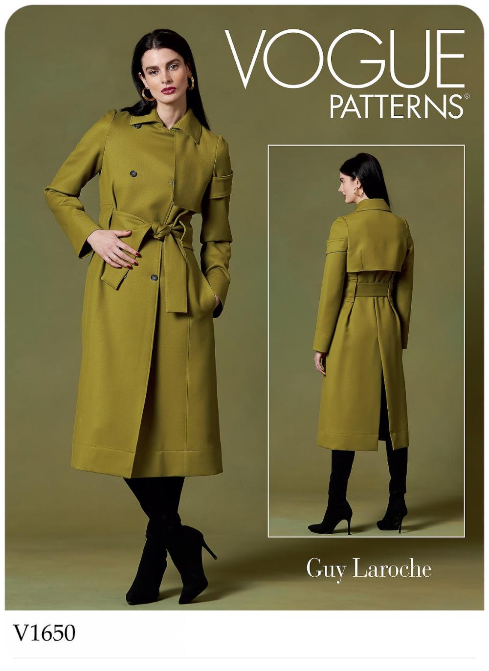 Vogue Patterns 1650 V1650 Vogue Patterns Coat Pattern Sewing