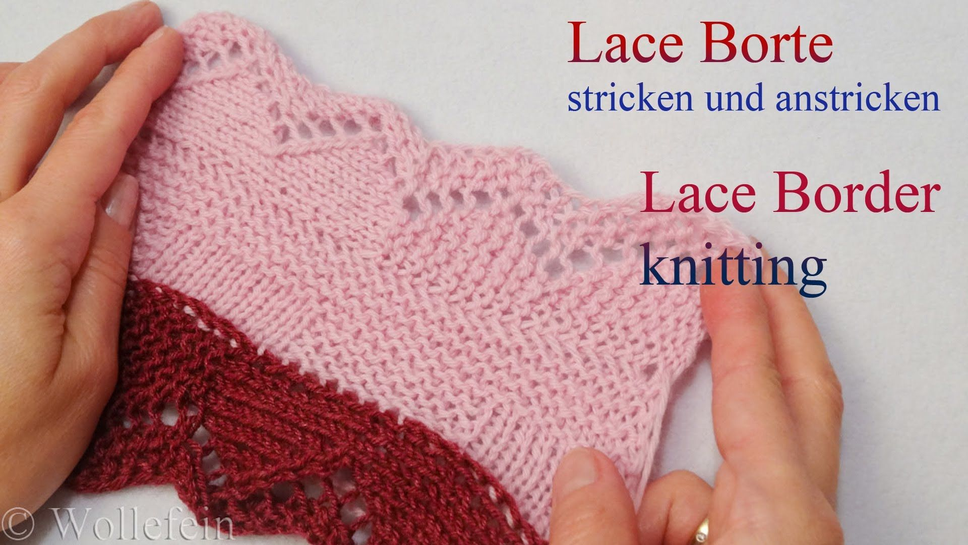 Lace Bordüre stricken und anstricken - Knitting on Lace Border 2