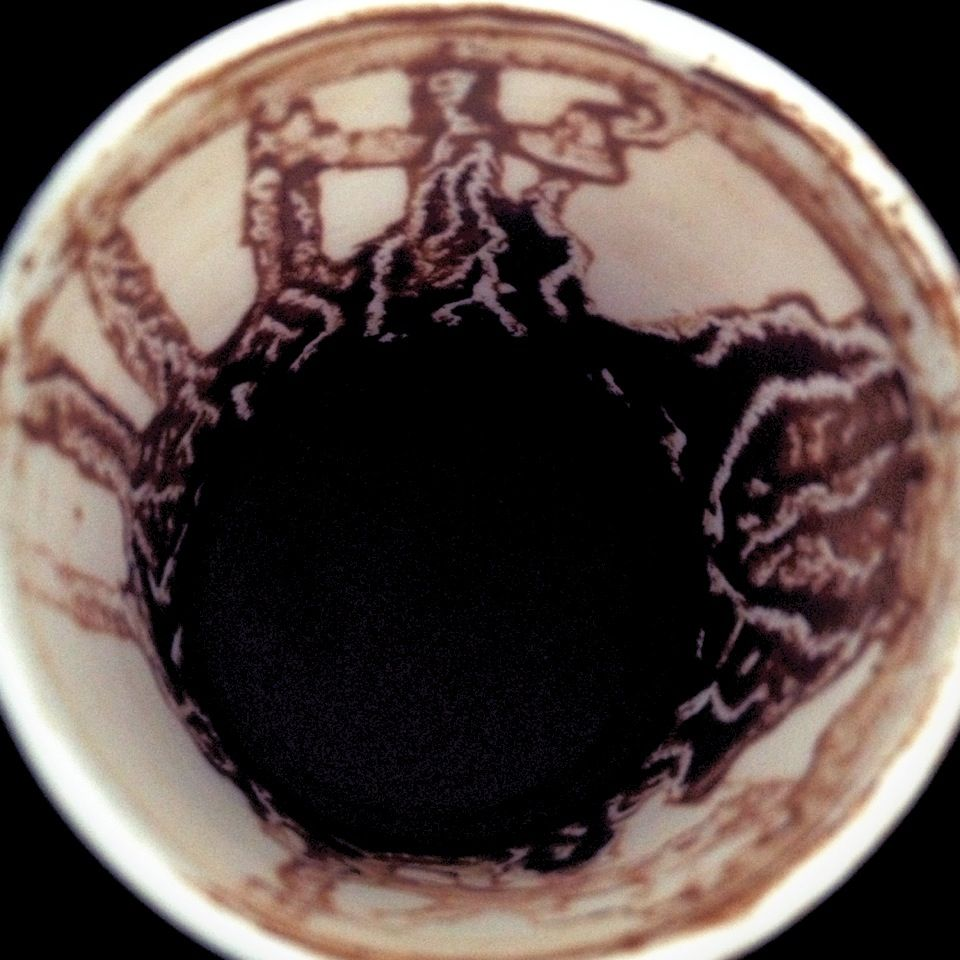 Coffee cup reading from the grind left at the bottom and sides of coffee cup reading from the grind left at the bottom and sides of a demitasse cup get some help to recognize the symbols here biocorpaavc Choice Image