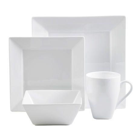 Hometrends Bistro Dinnerware Set | Walmart.ca  sc 1 st  Pinterest & Hometrends Bistro Dinnerware Set | Walmart.ca | House deco ...