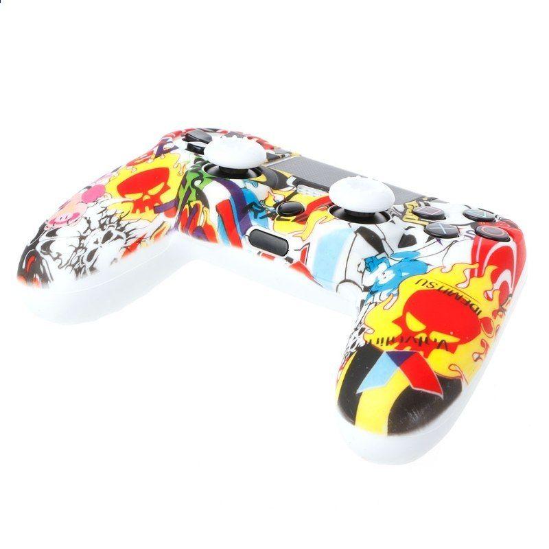 Vícebarevný silikonový kryt + 2 sady Joystick Caps for Dualshock 4 PS4  Controller 3b615b3f6c