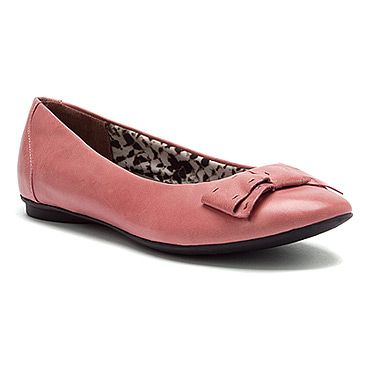 Women's Clarks Poem Court Rose Leather - Click Image to Close